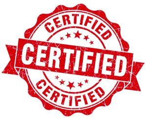 Certificazione posa in opera